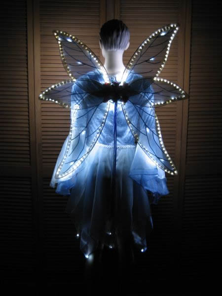 Lighted Wings Enlighted Illuminated Clothing