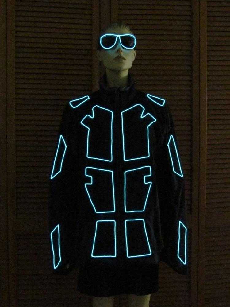 Suit with Aqua EL Wire - Enlighted Designs