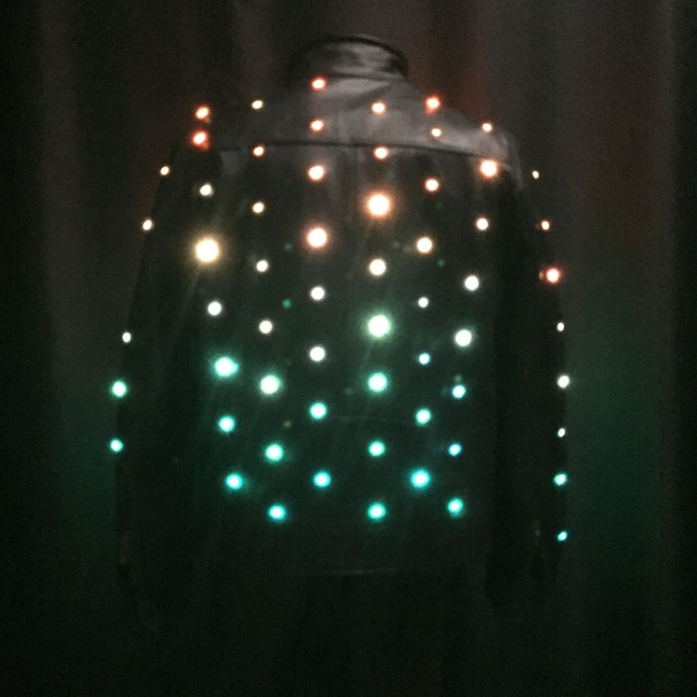Leather Jacket With 140 Rgb Leds Enlighted Designs Color This Led Studs Is An Updated Version Of A Coat We First Made In 2001 Instead Single Are Now Using Pixels That