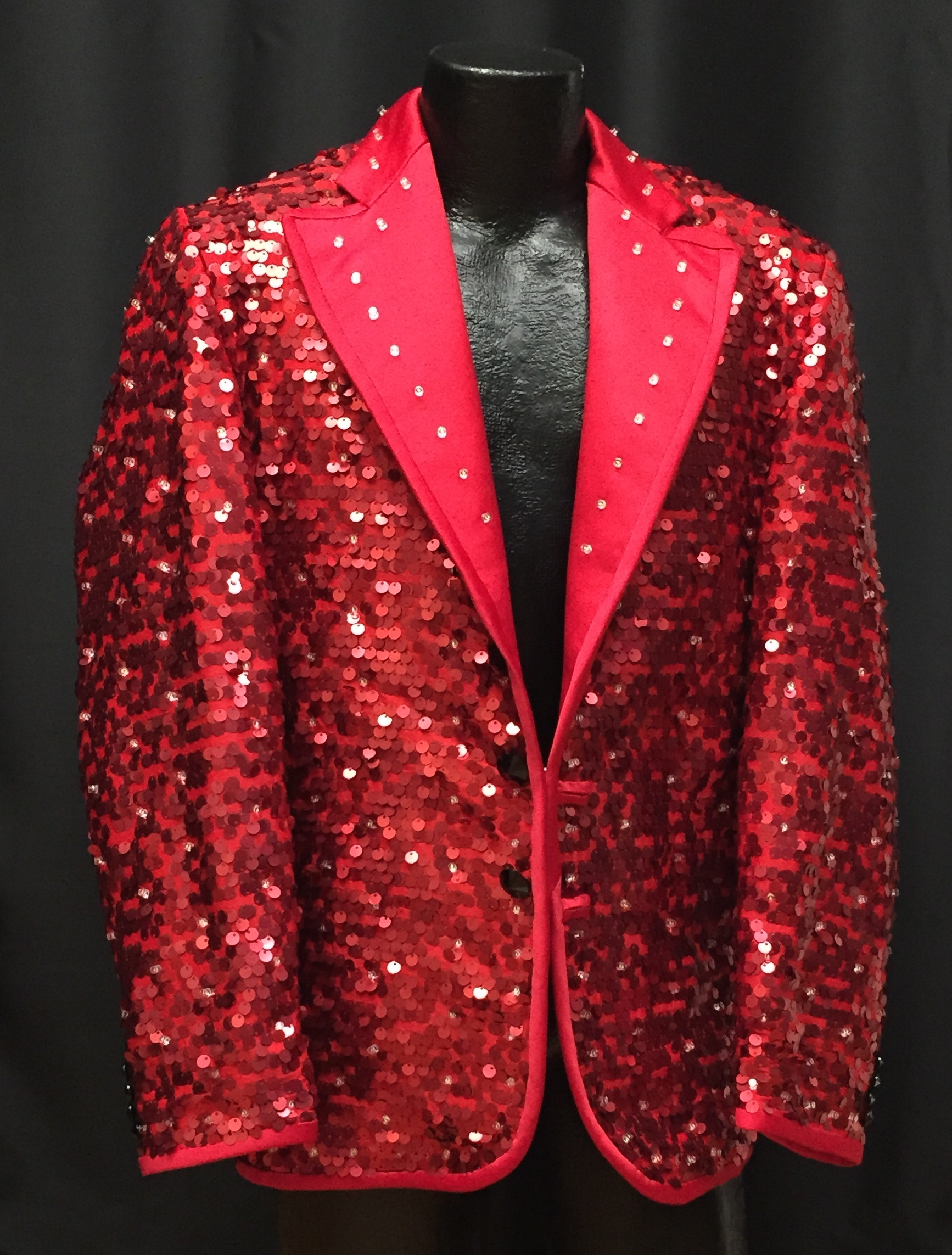 Red Sequined Jacket With White Leds Enlighted Designs