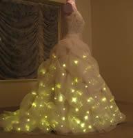 Geeky Wedding Gadgets, lighted wedding dress