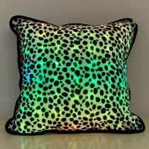 LED Pillow with Dalmatian Pattern Cover