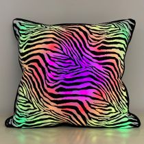 LED Pillow with Zebra Pattern Cover